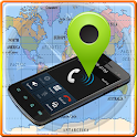 Mobile Number Tracker on Map icon