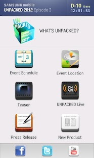 SAMSUNG mobile UNPACKED 2012 - screenshot thumbnail