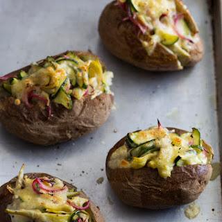 Zucchini-Artichoke Stuffed Potatoes