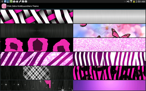 Pink Zebra Starry icon pack- screenshot thumbnail