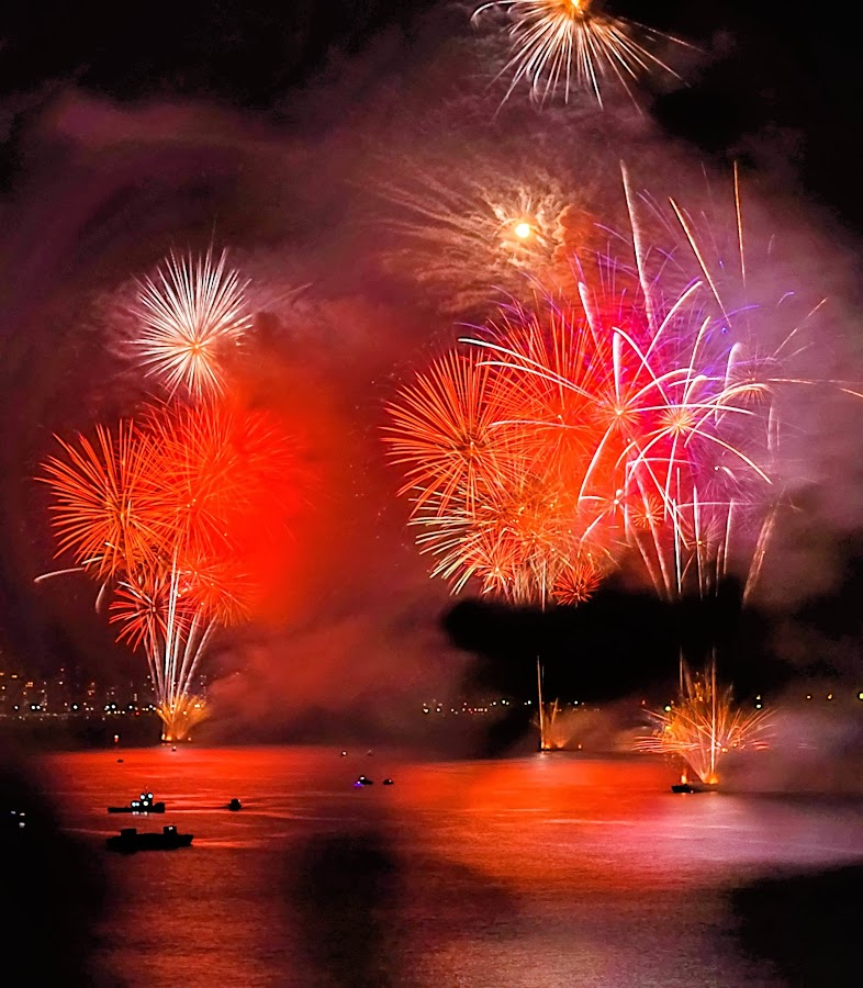 Glowing Flames by Darrell Champlin - Public Holidays New Year's Eve