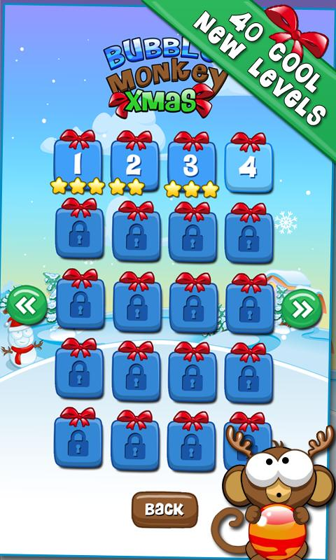 Bubble Monkey Xmas- screenshot