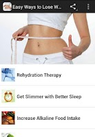 Screenshot of Easy Ways to Lose Weight