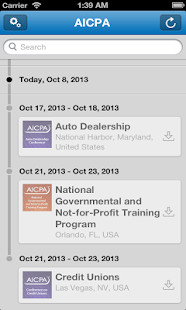 AICPA Conferences - screenshot thumbnail