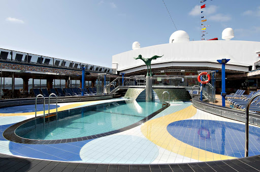 Carnival-Spirit-dome-pool - The Dome Pool, one of four pools you'll find aboard Carnival Splendor.