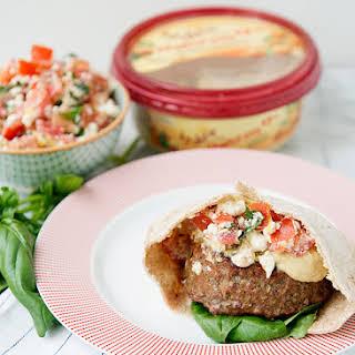 Mediterranean Pita Burgers.