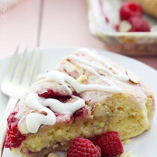 Raspberry Almond Scones.