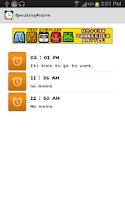 Screenshot of Speaking Alarm