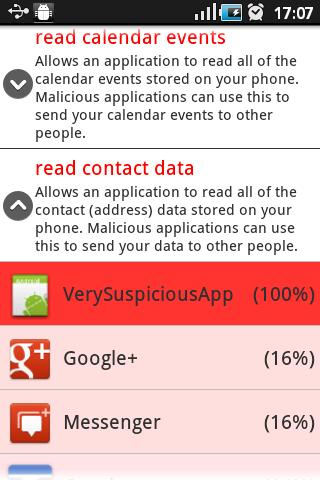 Suspicious Apps - screenshot