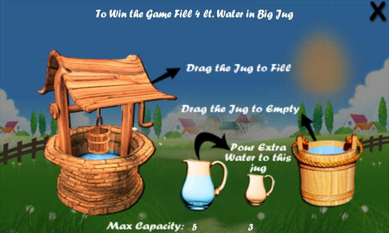 Water Jug Math Puzzle- screenshot