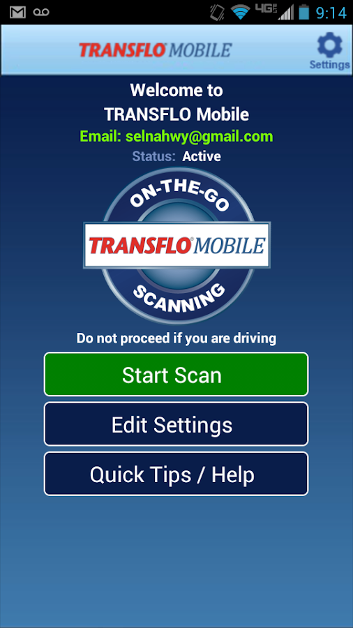 TRANSFLO Mobile - screenshot