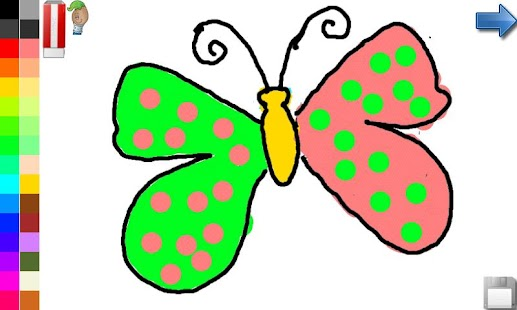 FREE Screenshot Thumbnail Coloring Book Butterfly