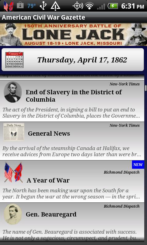 1861 Mar Am Civil War Gazette- screenshot
