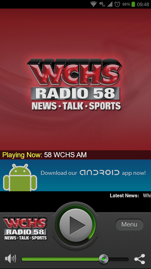 58 WCHS-AM - screenshot