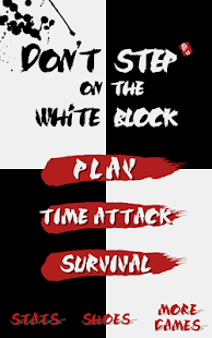 Don't step on the white block