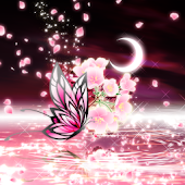 Moonlit Spring Butterfly