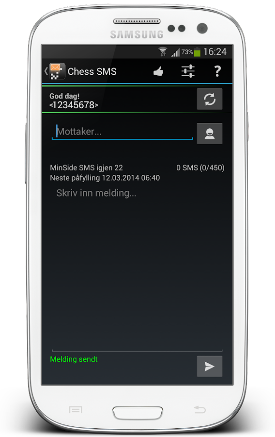 Chess SMS - screenshot