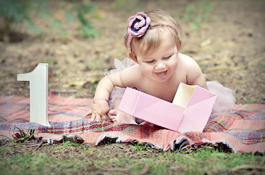 Birthday by Melanie Pista - Babies & Children Babies ( cake, blanket, forest, pink, box )