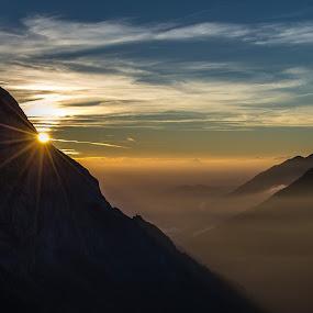 The Alps Sunrise by Joachim Unger - Landscapes Mountains & Hills ( mountains, mountain, bavaria, peak, sunset, germany, bayern, sunrise, alps )