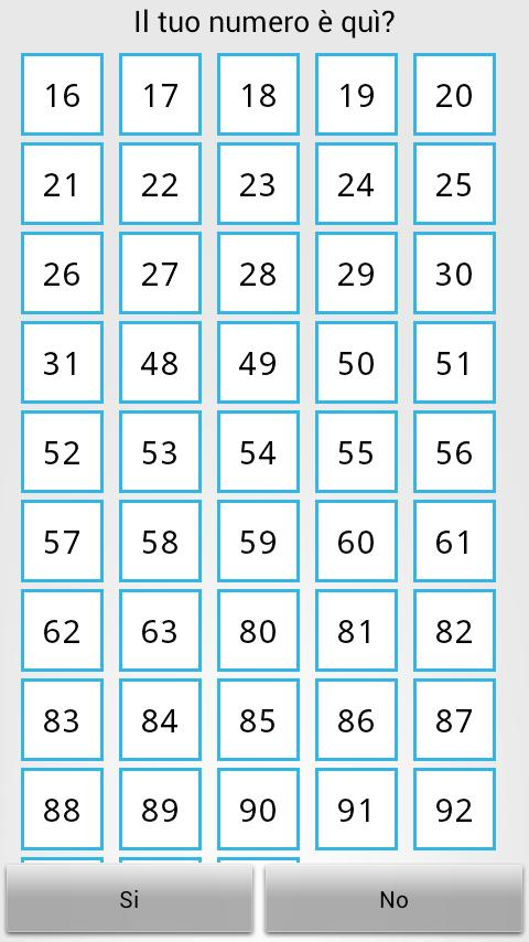 Magic squares - Mind Reading - screenshot