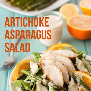 Artichoke Asparagus Chicken Spinach Salad.