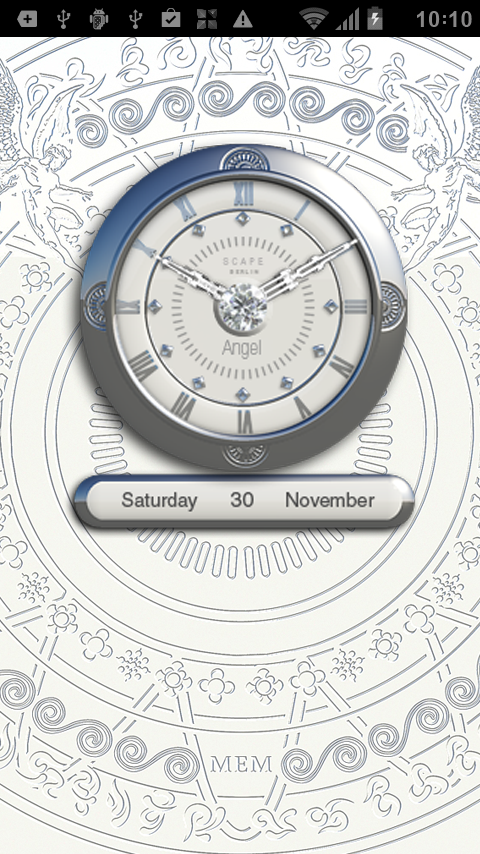 angel analog clock widget android apps on google play. Black Bedroom Furniture Sets. Home Design Ideas