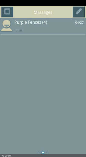 Blue Gray Tan Go SMS Theme