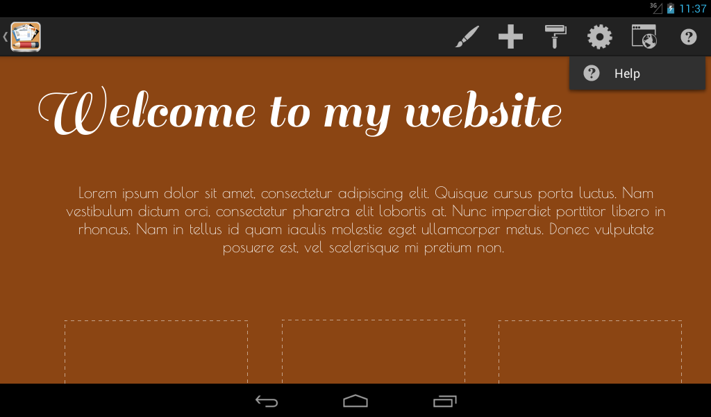 Android Web Maker - HTML Egg - screenshot