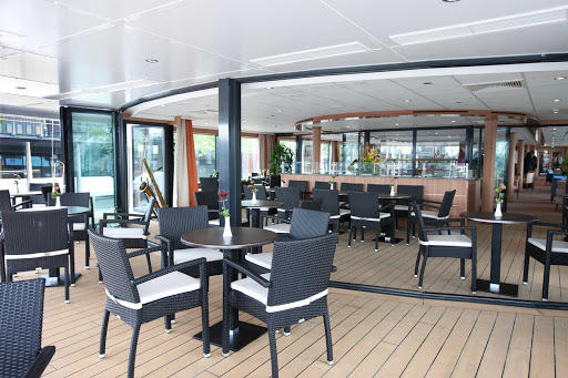 Viking-Prestige-Aquavit-Terrace - Head to the Aquavit Terrace aboard Viking Prestige for breakfast, lunch or dinner, inside or on deck.