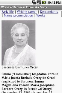Works of Baroness Emma Orczy - screenshot thumbnail