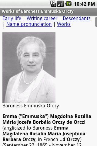Works of Baroness Emma Orczy - screenshot
