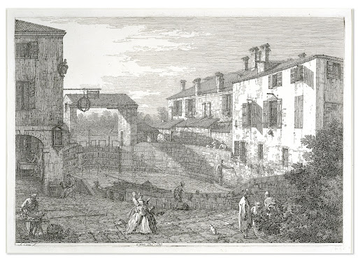 Giovanni Antonio Canaletto, Al Dolo, an etching