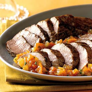 Roasted Pork Tenderloin with Kumquat-Jalapeño Marmalade.