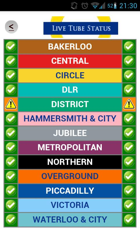 London Transport Planner - screenshot