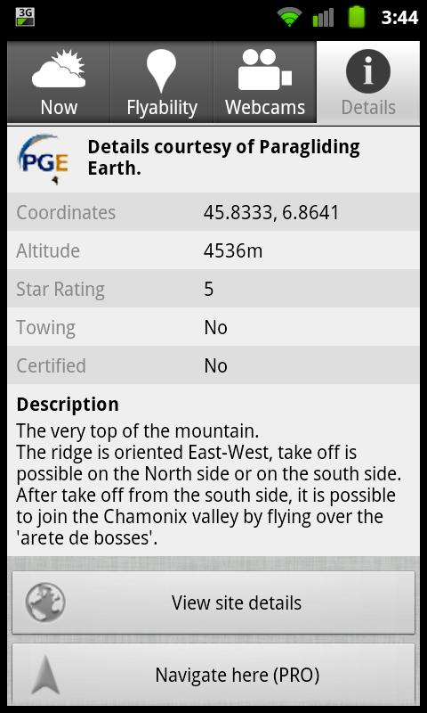 Paragliding Map (FREE) - screenshot