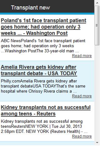 Transplant News