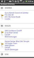 Screenshot of Gurdwara Directory