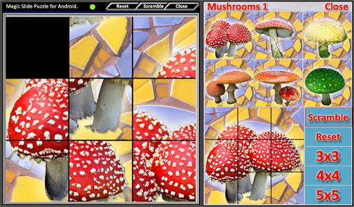 Magic Slide Puzzle Mushrooms 1