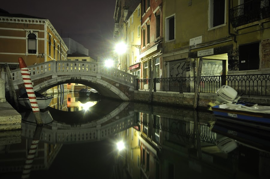 Venice by night by Marcel Neag - Buildings & Architecture Bridges & Suspended Structures ( venezia, nighttime, venice, italy, nightscape )