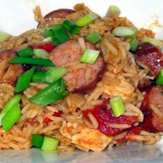 Chicken and Sausage Jambalaya.