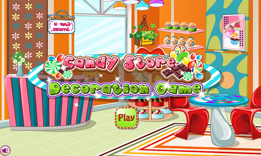 Candy store decoration Android App Screenshot