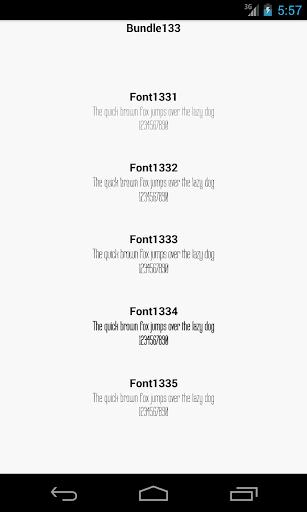 Fonts for FlipFont 133