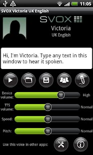 SVOX UK English Victoria Voice - screenshot thumbnail