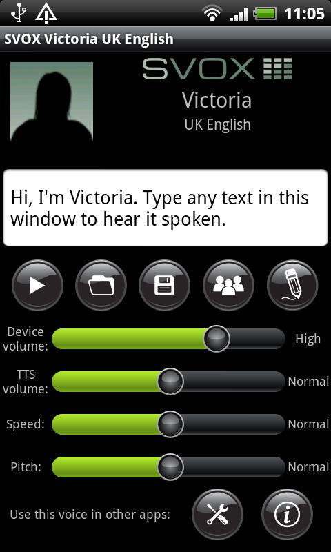 SVOX UK English Victoria Voice - screenshot