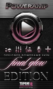 Poweramp skin Rose Glow v2.03