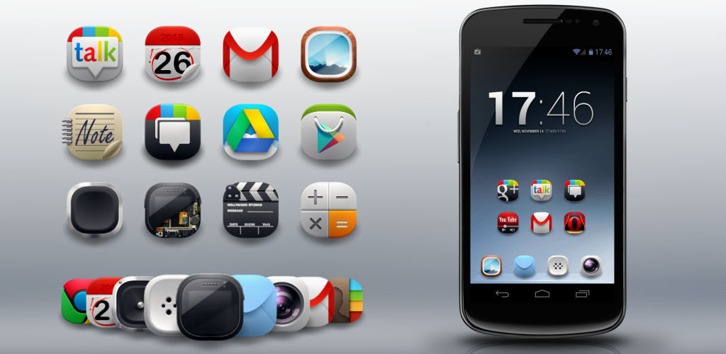 Modern Android icon pack 0 Apk Download - com xynapse