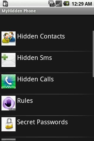 MyHiddenPhone Pro- screenshot