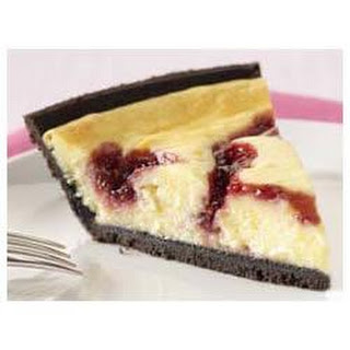 PHILADELPHIA® 3-STEP® White Chocolate Raspberry Swirl Cheesecake.