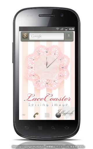 レースコースター【アナログ時計ウィジェット】ピンク
