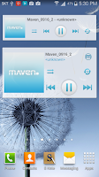 Screenshot of MAVEN Player Blue Widget